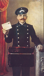 Russian postman around 1900